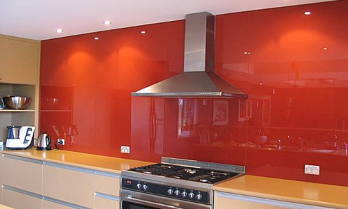 Tempered Lacquered Kitchen Splashback orange 700x500