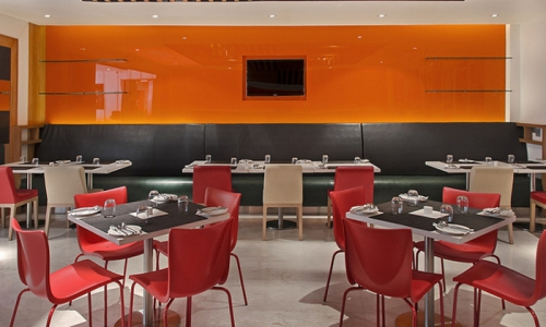 Tempered Orange Lacquered Glass 700x500