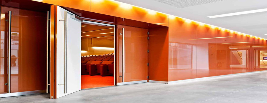 Orange Tempered Glass Wall Cladding 900x350